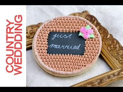 How To Decorate Country Style Burlap Wedding Cookies, Decorating with Royal Icing