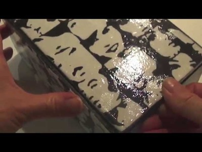How to decoupage a box  Paparzzi paper Black and white