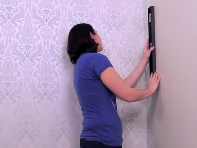 How to Hang Wallpaper Around Corners-YOUTUBE