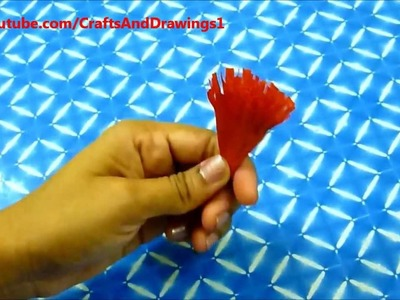 How to make a Crepe Paper Flower very easily.