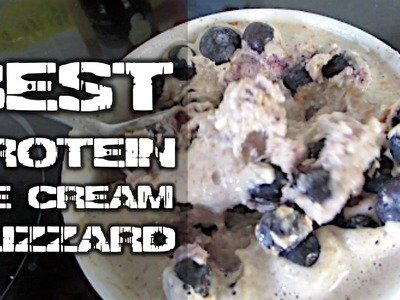 How To Make A Delicious Protein Ice Cream Blizzard (no sugar added)