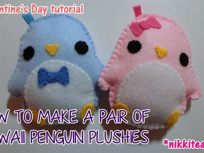 How to Make a Pair of Kawaii Penguin Plushies