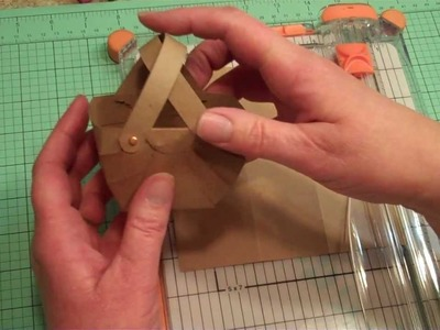 How To Make A Paper Basket:  Part 1