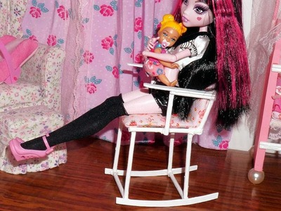 How to make a rocking chair for doll (Monster High, MLP, EAH, Barbie, etc)