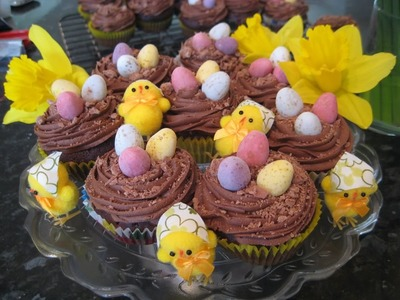 How to make Chocolate Easter Cupcakes