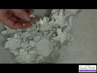 How to Make Floral Frame from Tea Lights by Tiffany Windsor