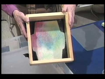 How To Make Paper: Adding Color in the Deckle