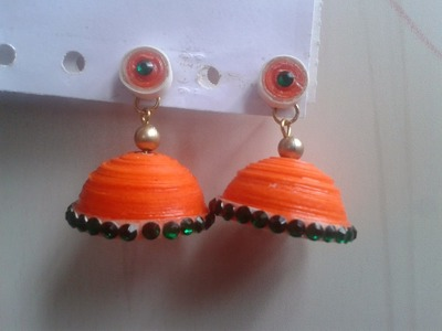 How to make Paper Quilling Jhumka   Malayalam tutorial. . . .
