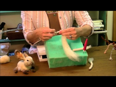 How To Needle Felt - Skewer Technique: Sarafina Fiber Art Episode 4
