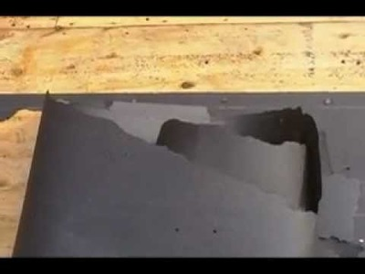 How to : Roofing - Removing Tar Paper without the Mess