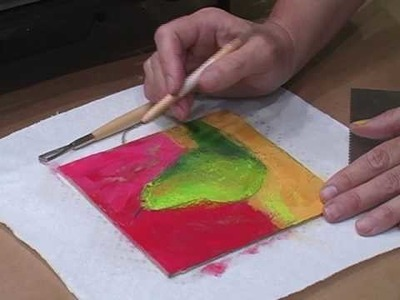 How-To: Scrape In Encaustic