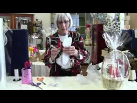 How To Tie A Bow For a Gift Basket