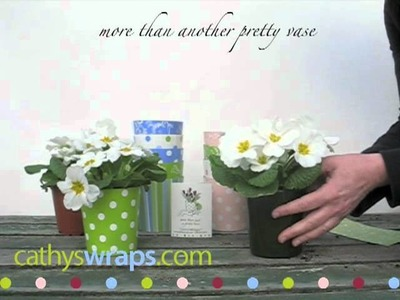 How to wrap a potted plant to make centerpieces and gifts.