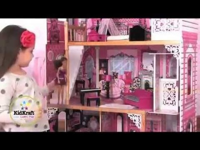 KidKraft Amelia Dollhouse 65093 The Perfect Pink Dollhouse For Barbie