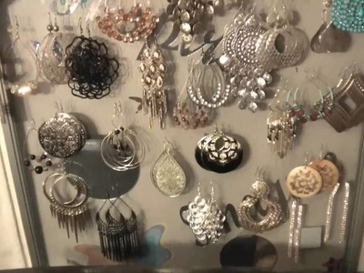 Make your Own Jewelry Holder. earring organizer. for under $20
