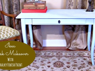 Mark Montano restyles an IKEA desk with Chalky Finish paint