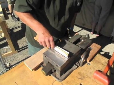 Mike Wenzloff Sets a Saw With a Piece of Paper