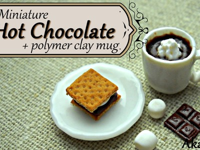 Miniature Hot Chocolate + Mug - Polymer Clay Tutorial