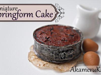 Miniature Springform Cake - Polymer Clay Tutorial