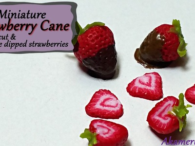 Miniature Strawberry Cane & chocolate dipped berries - Polymer Clay Tutorial