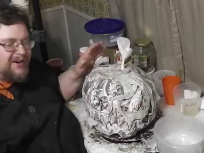 Paper Mache Pumpkins- 4 - Bottom and Face