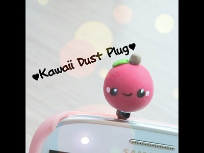 ☆★Polymer Clay Apple Dust Plug Tutorial☆★