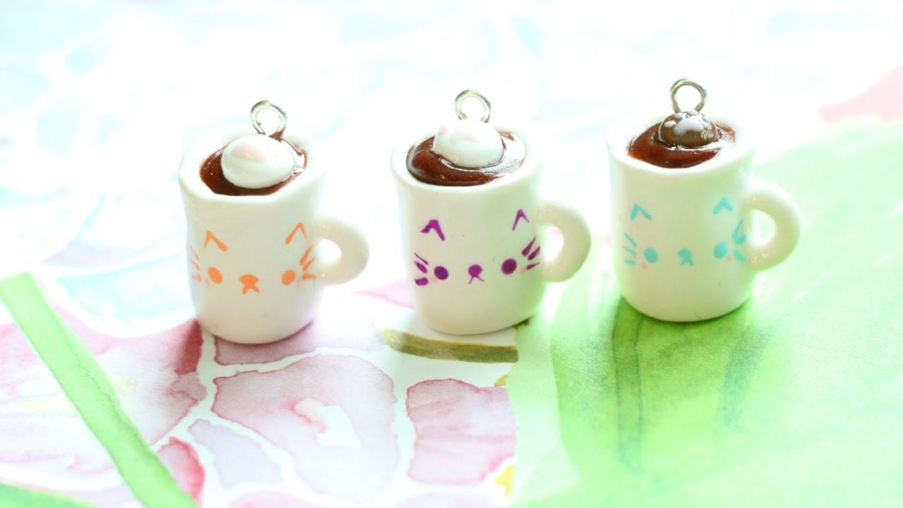 Polymer Clay Cat Coffee Mug Charm Tutorial