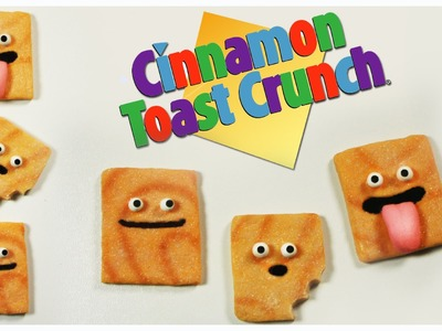 Polymer clay Cinnamon Toast Crunch (cereals) TUTORIAL
