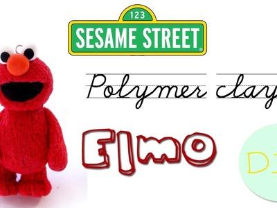 Polymer clay Elmo (Sesame Street) TUTORIAL