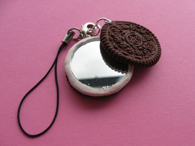 Polymer Clay Oreo Mirror Phone Charm Tutorial