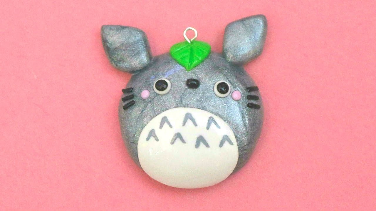 Polymer Clay Totoro Mirror Charm Tutorial