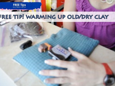PolyPediaOnline TV by Iris Mishly - How to warm stiff.old polymer clay FREE tutorial