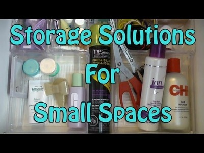 Quick & Easy Storage Solutions for Small Spaces ☆