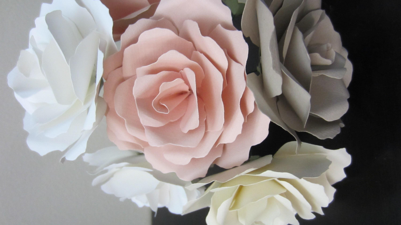 Цветы из офисной бумаги фото