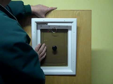 Simple way to install this airtight dog door for your pet into your exterior door