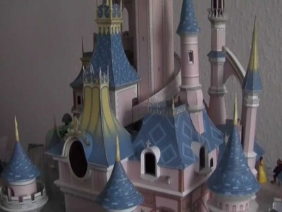 Sleeping Beauty´s Castle Paper Model illuminated