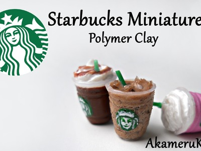 Starbucks inspired Miniature - Polymer Clay tutorial