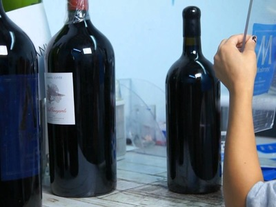 The Process of Creating Etched Wine Bottles