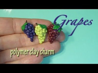 Wine Grapes Polymer Clay Charm