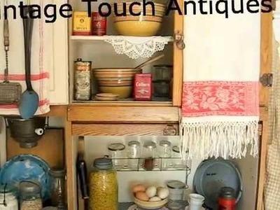 Antique Kitchen Display with Hoosier Cabinet