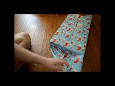 Binaural present wrapping for ASMR tingles :) *soft speaking, crinkly paper, and some unboxing*