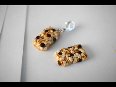 Chocolate Chip Granola Bar Tutorial, Polymer Clay Miniature Food