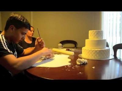 Christening Cake - Time Lapse