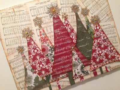 Christmas Tree EASY Mixed Media Canvas