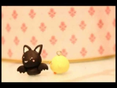 ◕‿◕ Bat! Kawaii Friday 42 (Tutorial in Polymer Clay)