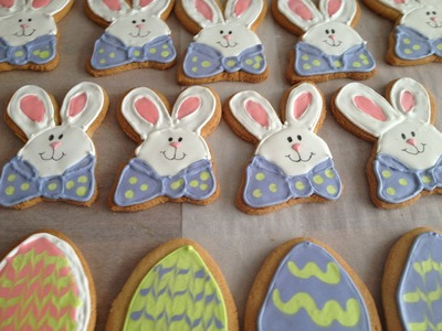Easter cookies Bunnies and eggs