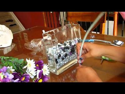 Easy Fake Flowers. Glass Vase