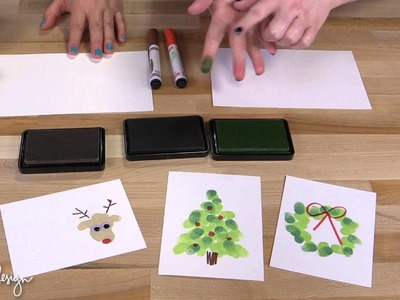 Fingerprint Holiday Cards with Jenn!