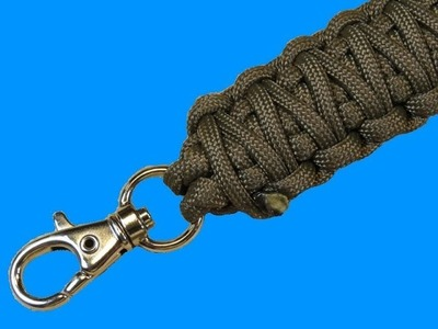 How to make a Keychain Paracord Lanyard Tutorial (Paracord 101)
