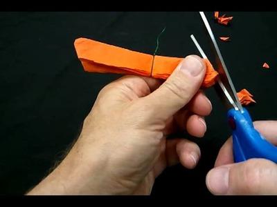 How to make a paper flower for Dia de los Muertos